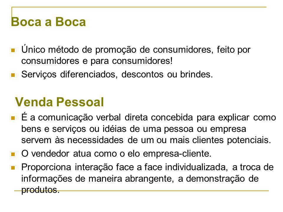 Boca a Boca Único método de promoção de consumidores, feito por consumidores e para consumidores! Serviços diferenciados, descontos ou brindes.