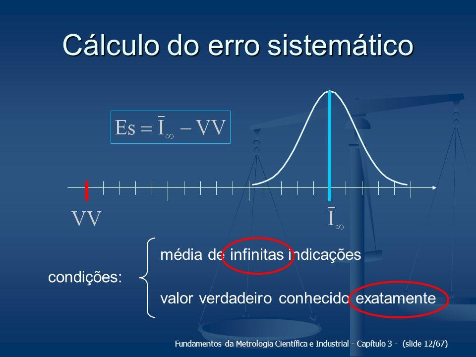 Cálculo do erro sistemático