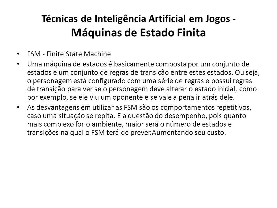 Técnicas de Inteligência Artificial em Jogos - Máquinas de Estado Finita