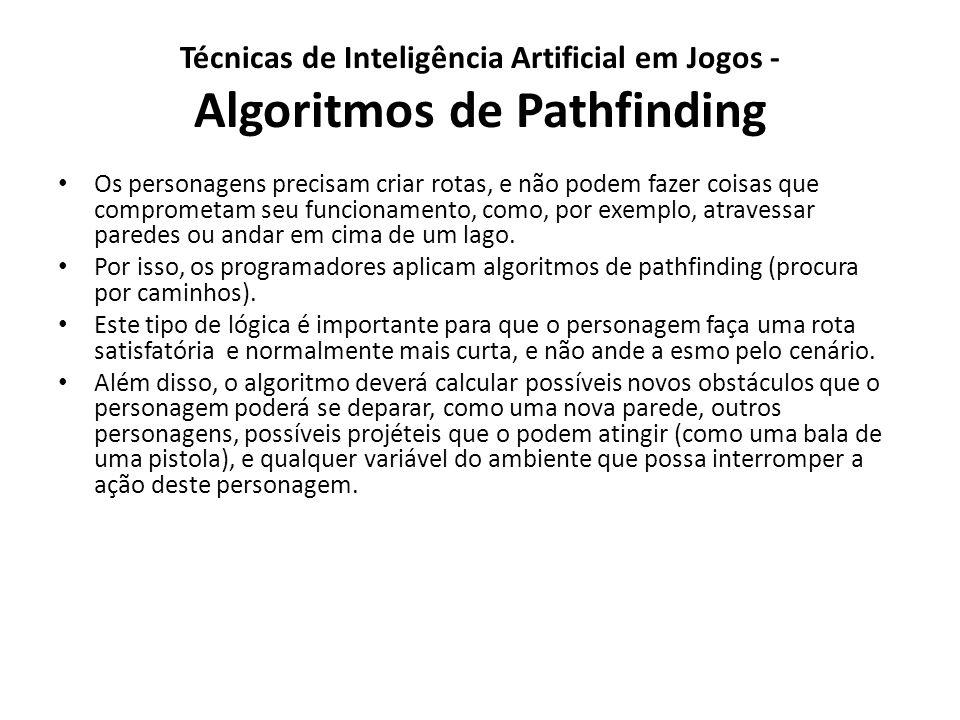 Técnicas de Inteligência Artificial em Jogos - Algoritmos de Pathfinding