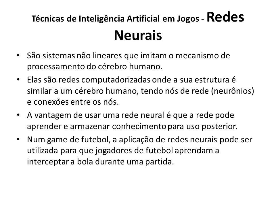 Técnicas de Inteligência Artificial em Jogos - Redes Neurais