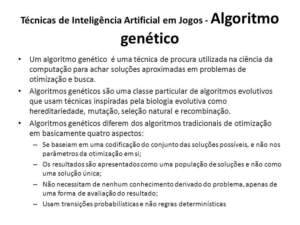 Técnicas de Inteligência Artificial em Jogos - Algoritmo genético
