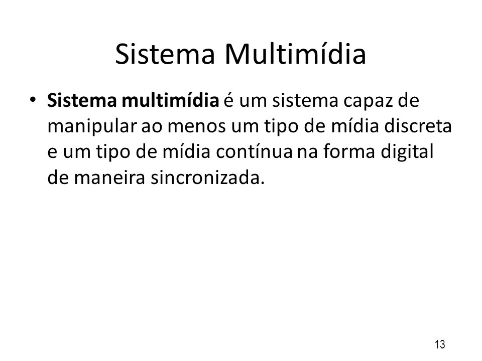 Sistema Multimídia