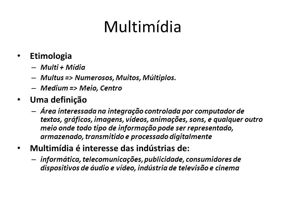 Multimídia Etimologia Uma definição
