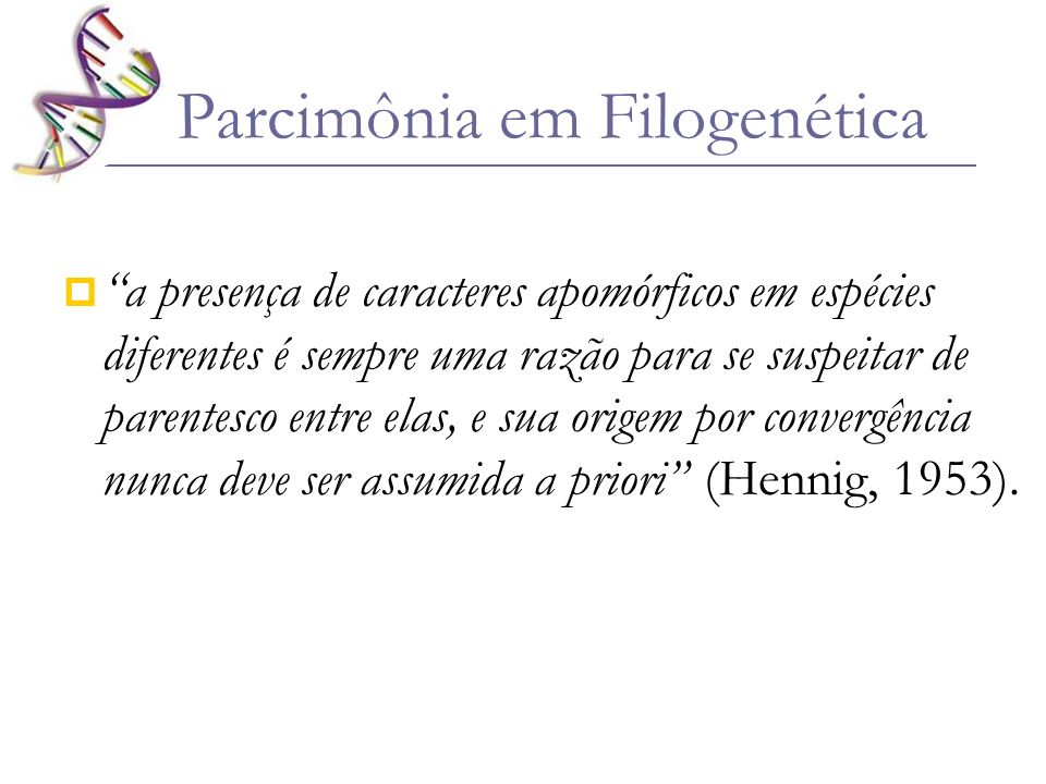Parcimônia em Filogenética