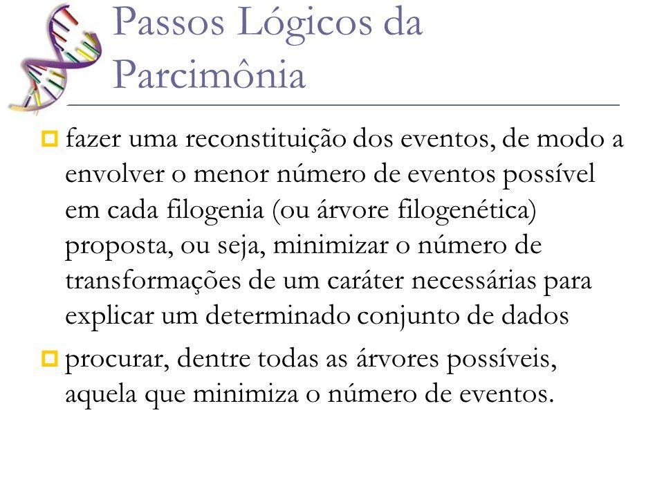 Passos Lógicos da Parcimônia