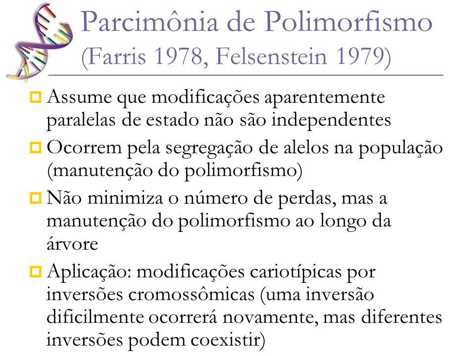 Parcimônia de Polimorfismo (Farris 1978, Felsenstein 1979)