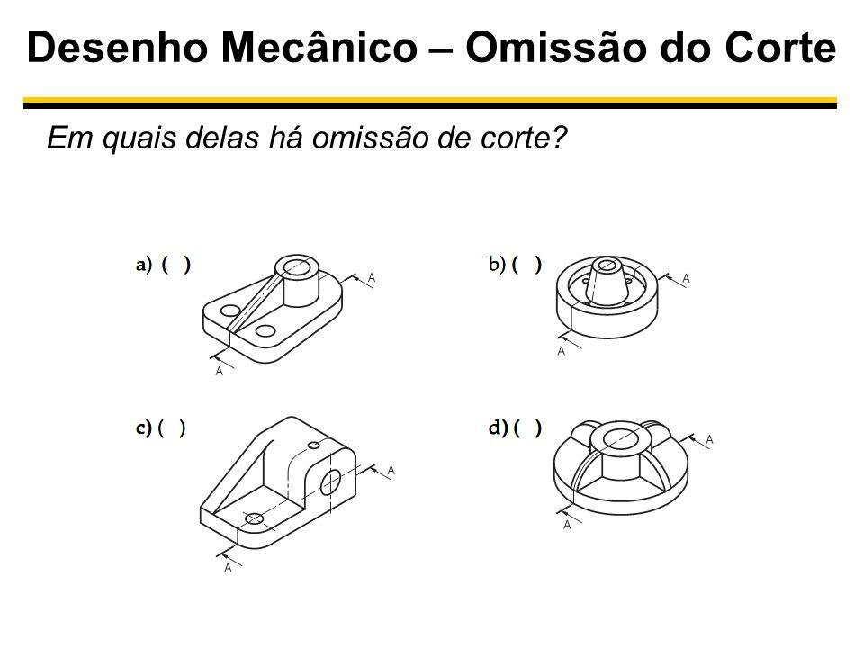 Desenho Mecânico – Omissão do Corte