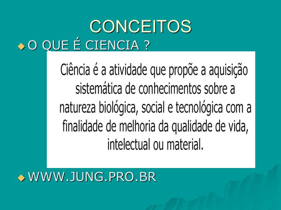 CONCEITOS O QUE É CIENCIA WWW.JUNG.PRO.BR