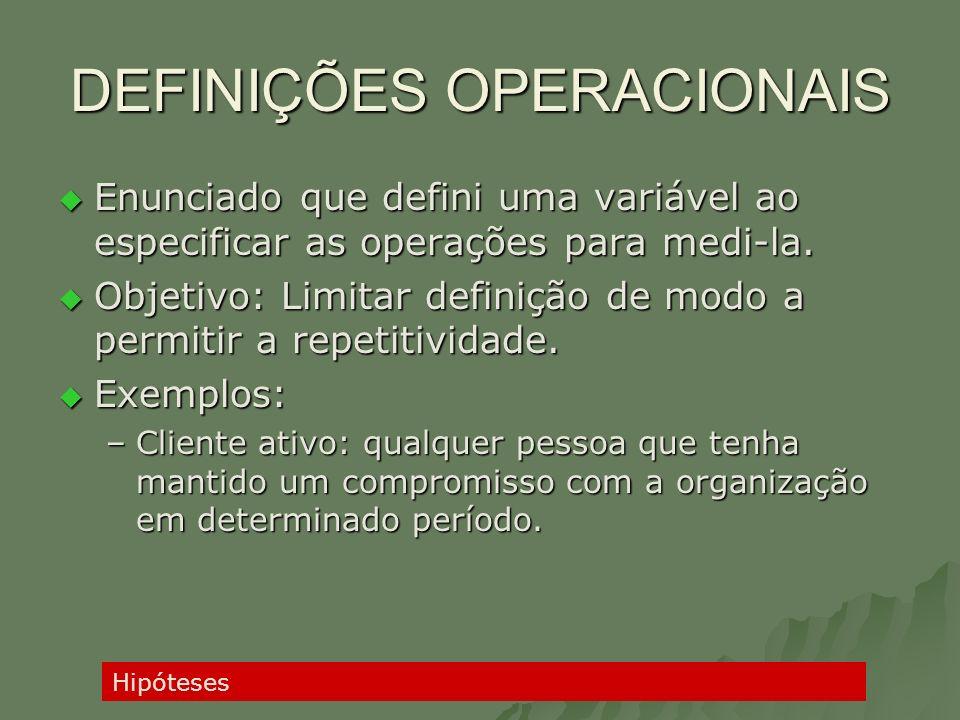 DEFINIÇÕES OPERACIONAIS