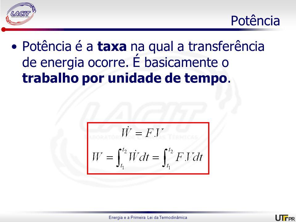 PotênciaPotência é a taxa na qual a transferência de energia ocorre.
