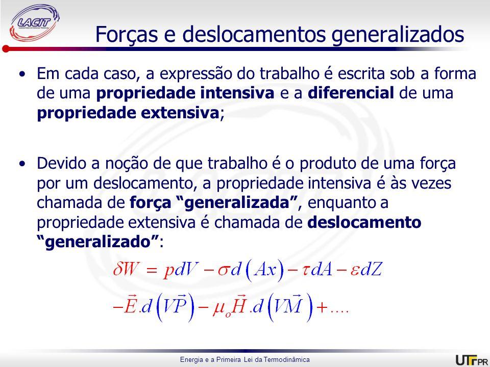 Forças e deslocamentos generalizados