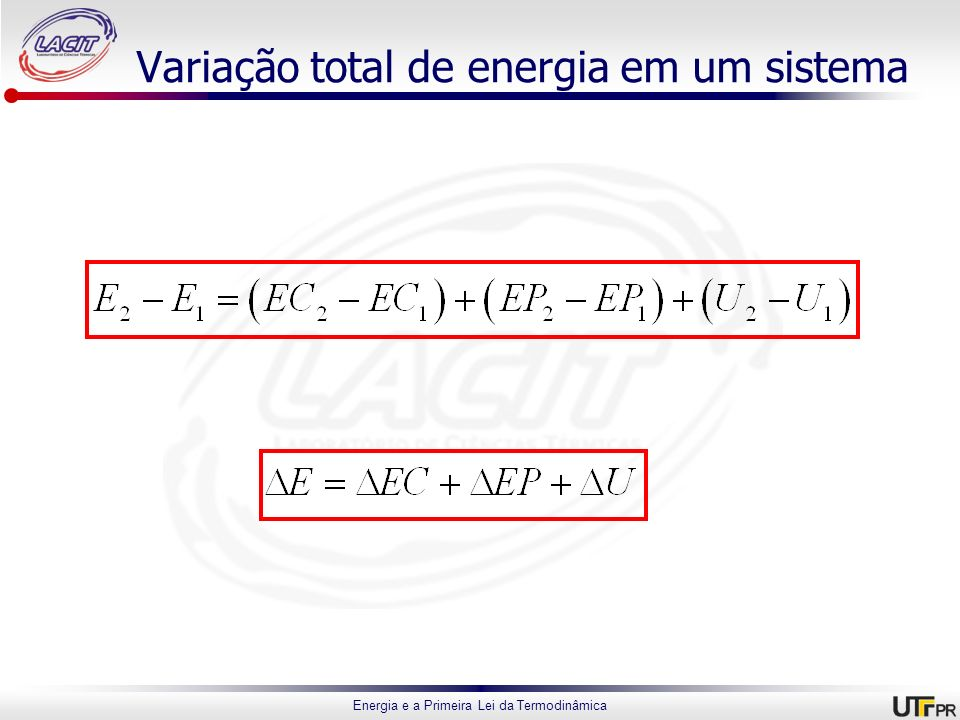 Variação total de energia em um sistema