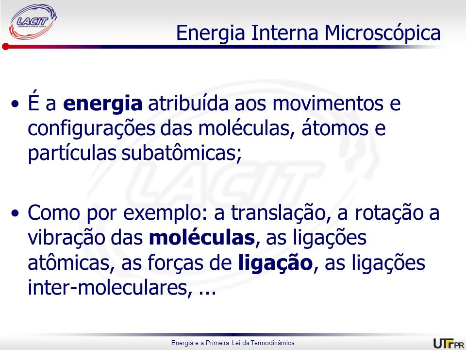 Energia Interna Microscópica