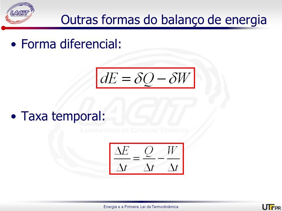 Outras formas do balanço de energia