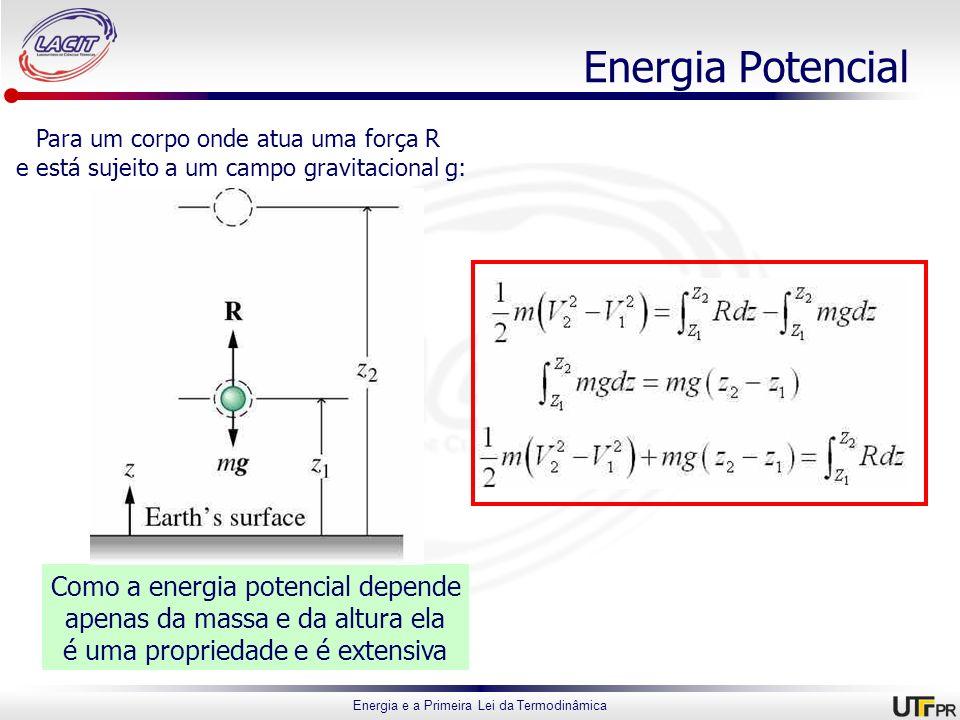 Energia Potencial Como a energia potencial depende