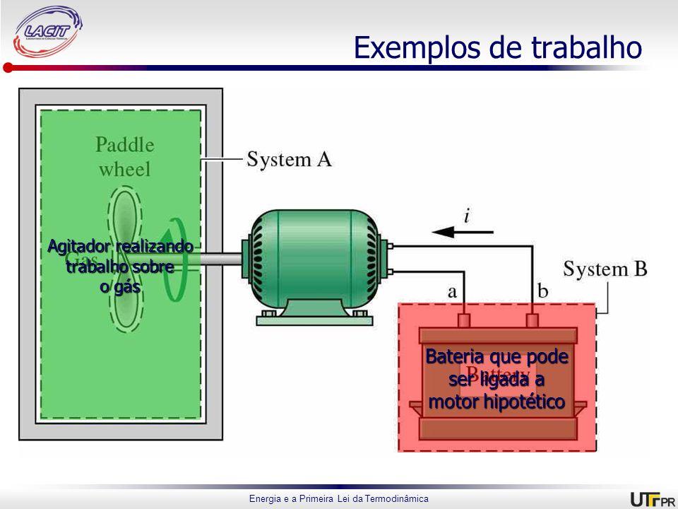 Exemplos de trabalho Bateria que pode ser ligada a motor hipotético
