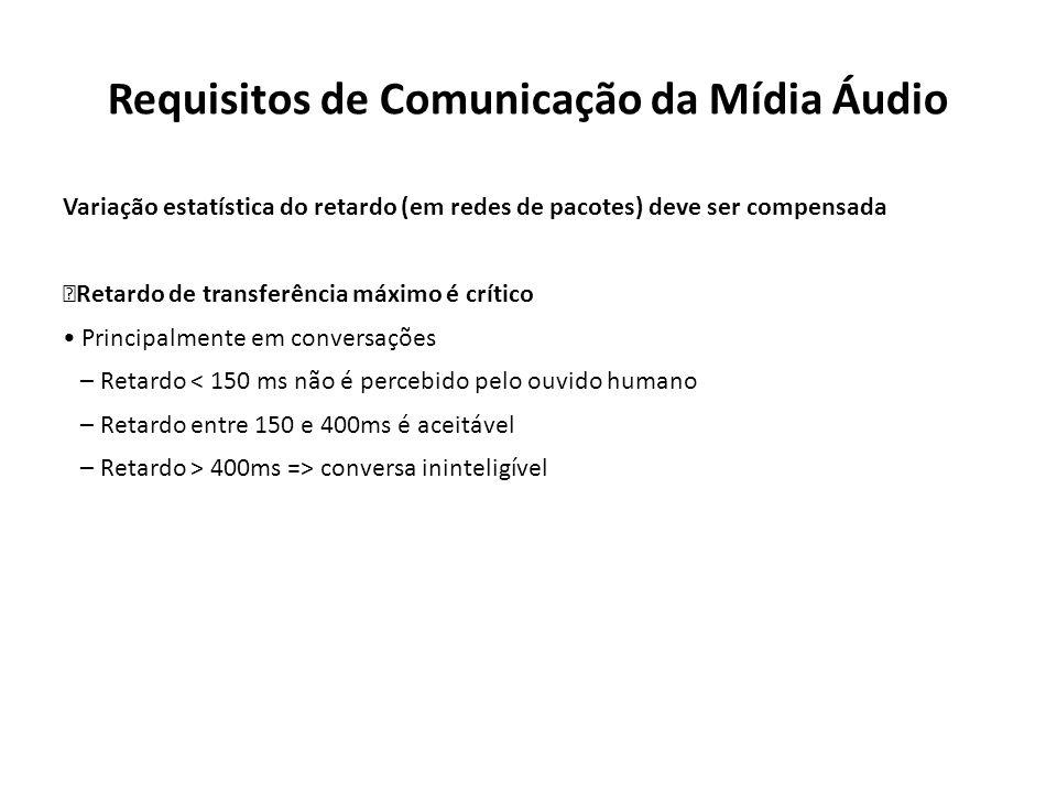 Requisitos de Comunicação da Mídia Áudio