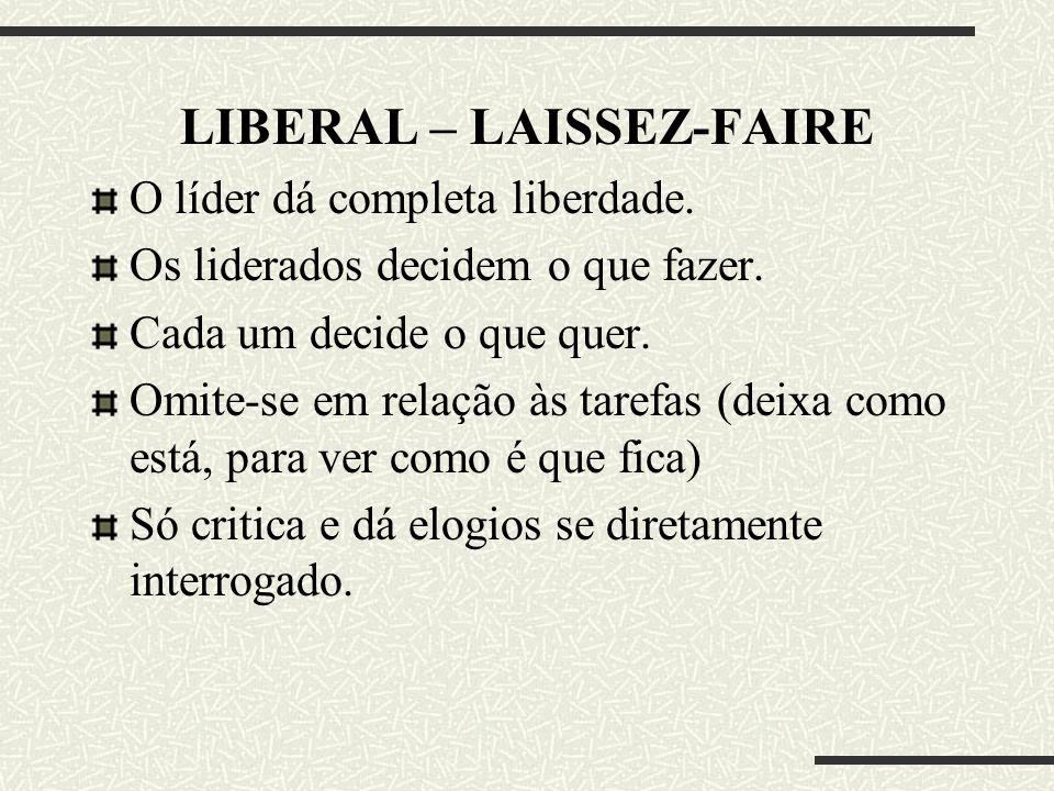 LIBERAL – LAISSEZ-FAIRE