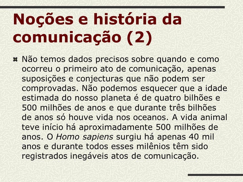 Noções e história da comunicação (2)