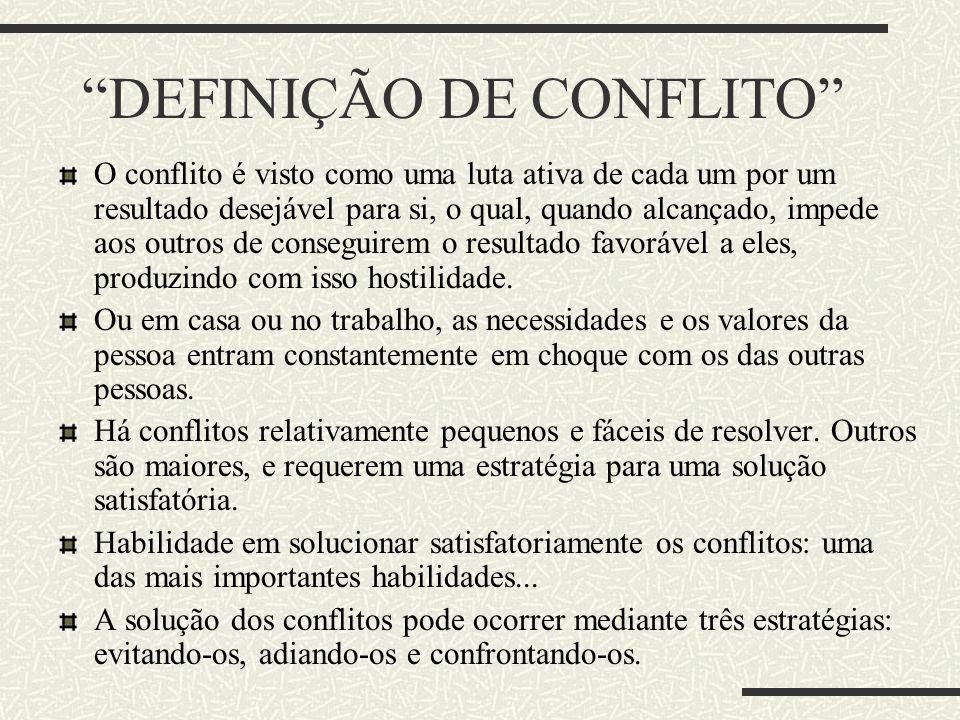DEFINIÇÃO DE CONFLITO