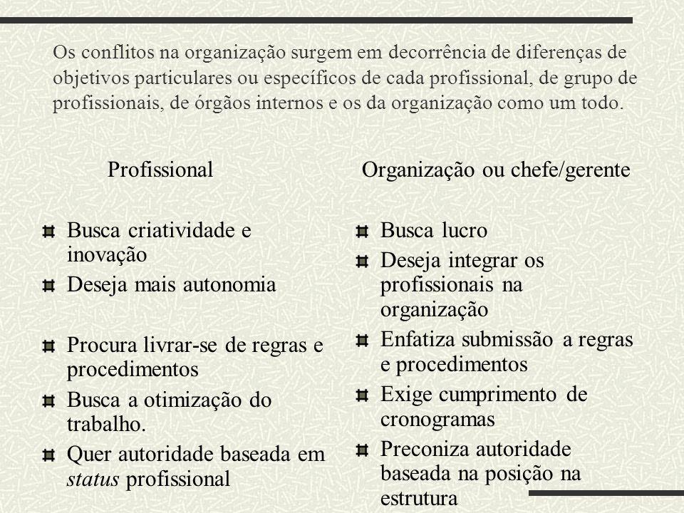 Organização ou chefe/gerente
