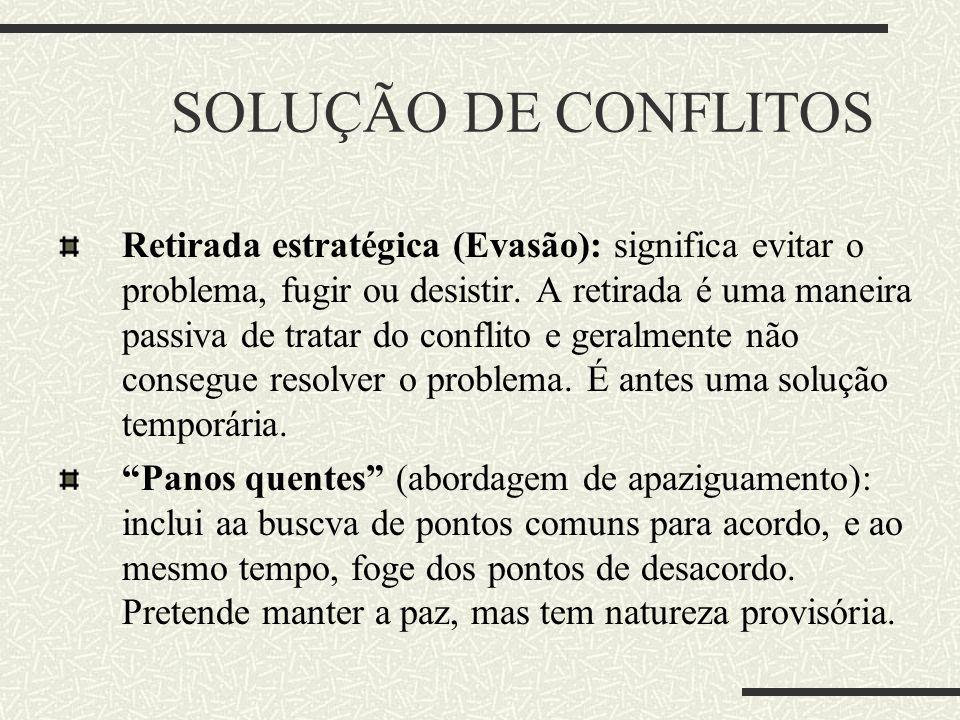 SOLUÇÃO DE CONFLITOS