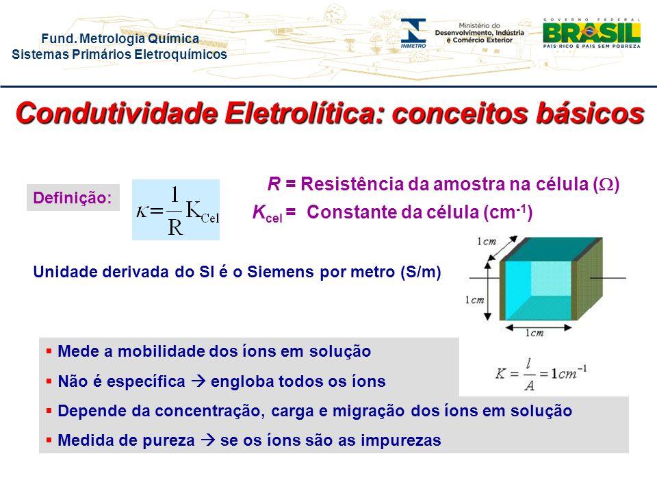 Condutividade Eletrolítica: conceitos básicos