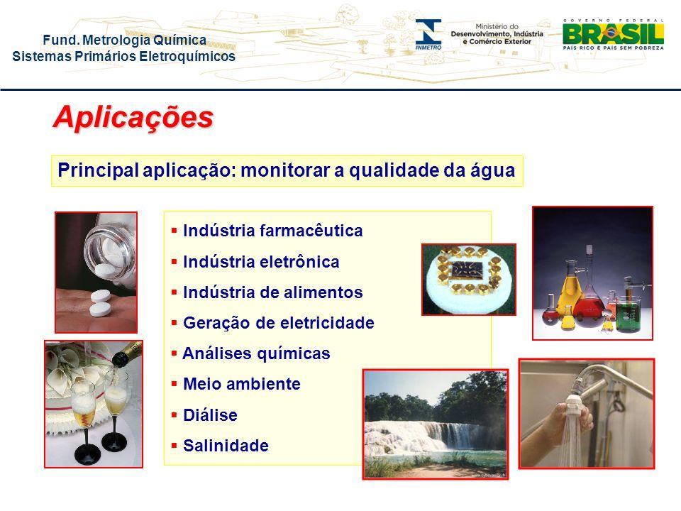 Aplicações Principal aplicação: monitorar a qualidade da água