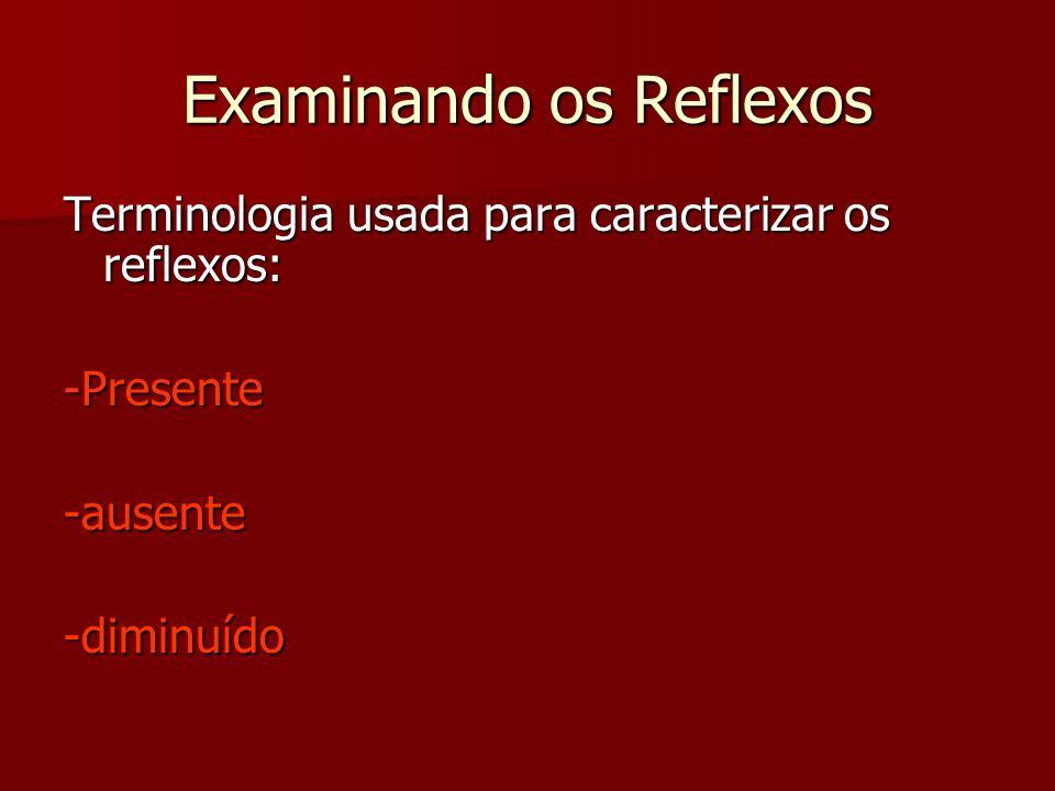 Examinando os Reflexos