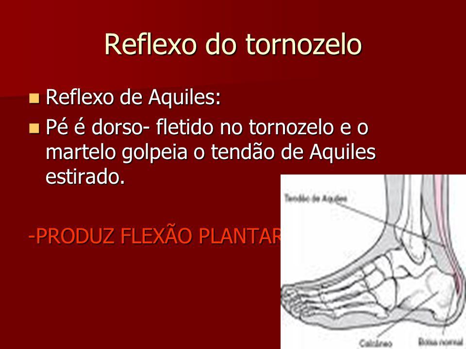 Reflexo do tornozelo Reflexo de Aquiles:
