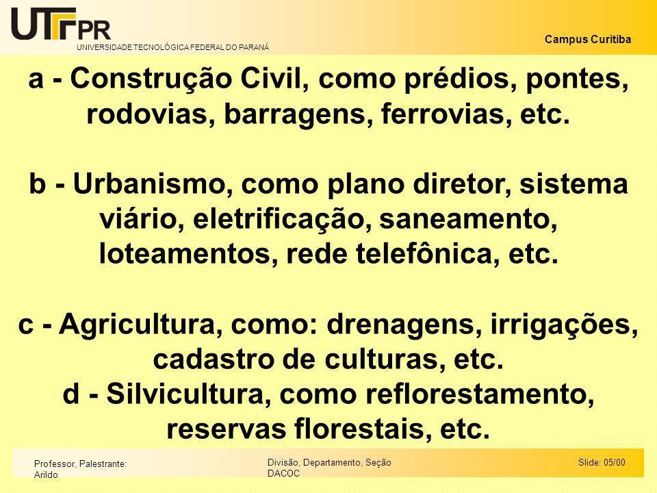 d - Silvicultura, como reflorestamento, reservas florestais, etc.
