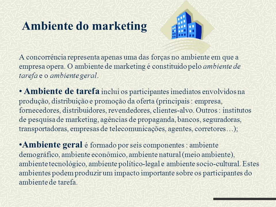 Ambiente do marketing
