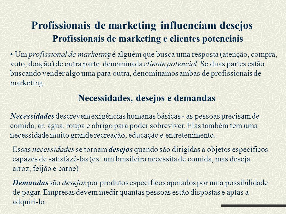 Profissionais de marketing influenciam desejos