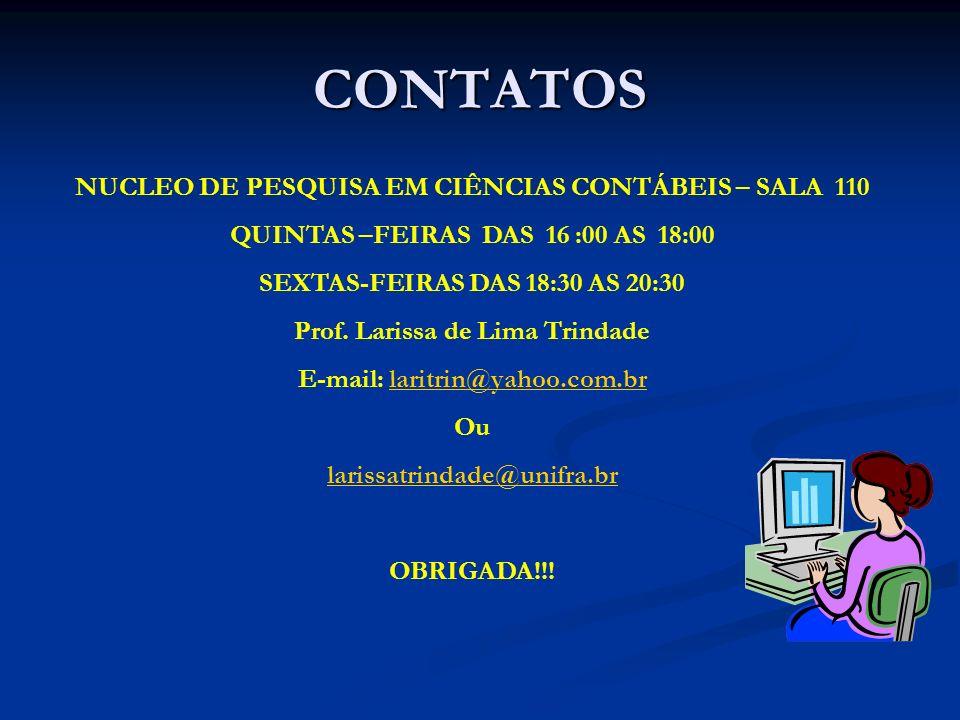 CONTATOS NUCLEO DE PESQUISA EM CIÊNCIAS CONTÁBEIS – SALA 110
