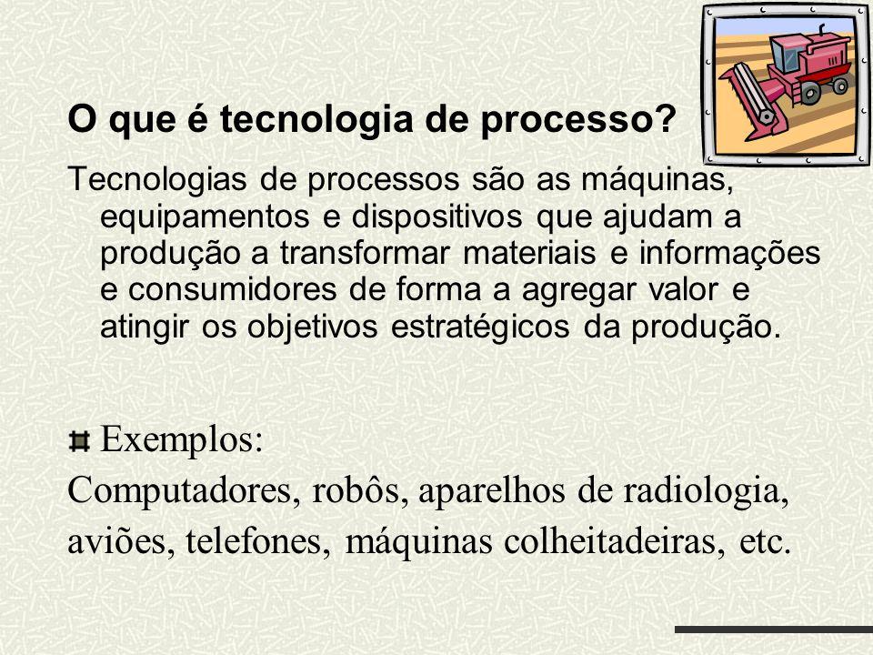 O que é tecnologia de processo