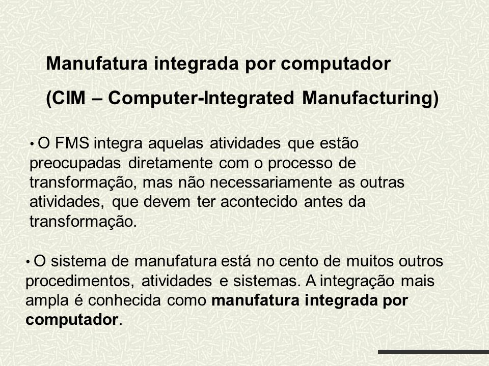 Manufatura integrada por computador