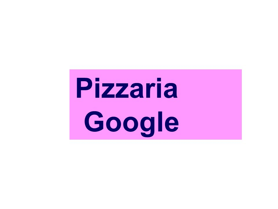 Pizzaria Google