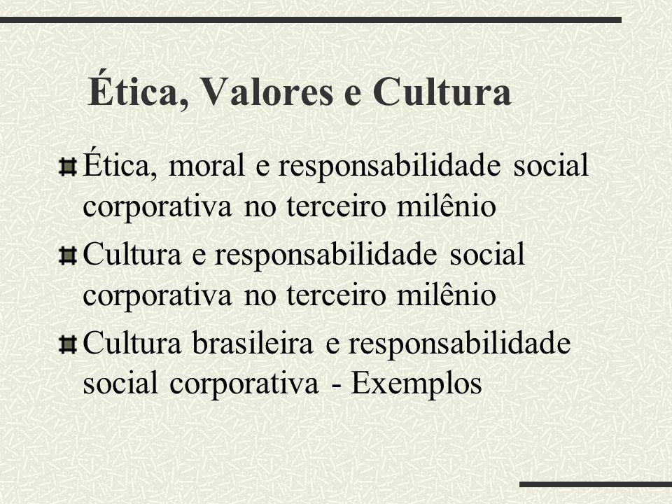 Ética, Valores e Cultura