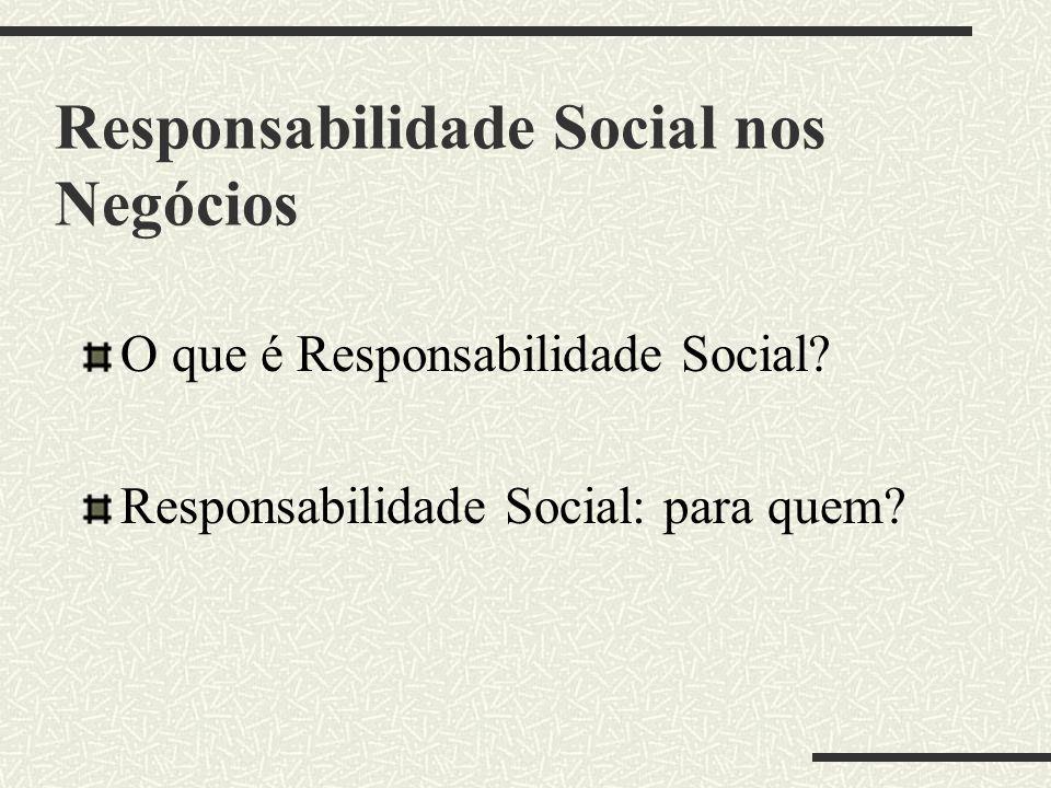 Responsabilidade Social nos Negócios