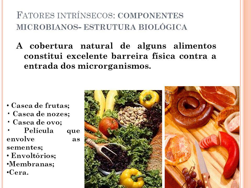 Fatores intrínsecos: componentes microbianos- estrutura biológica