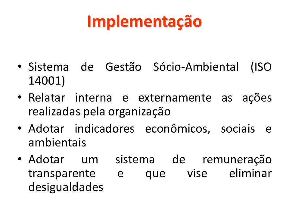Implementação Sistema de Gestão Sócio-Ambiental (ISO 14001)