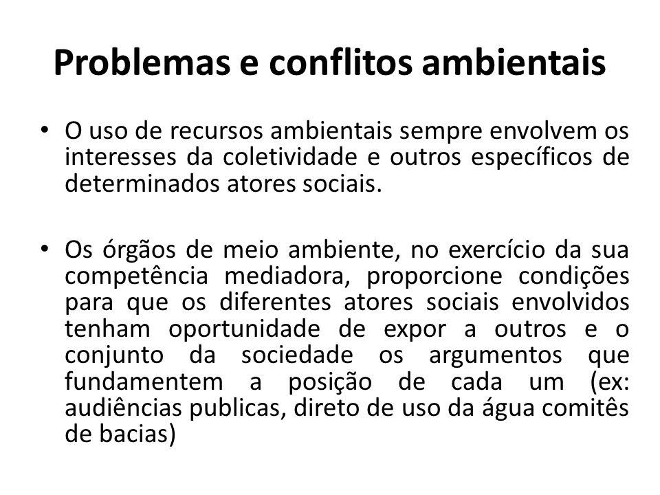 Problemas e conflitos ambientais