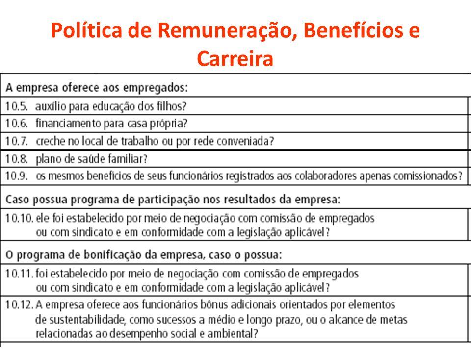 Política de Remuneração, Benefícios e Carreira