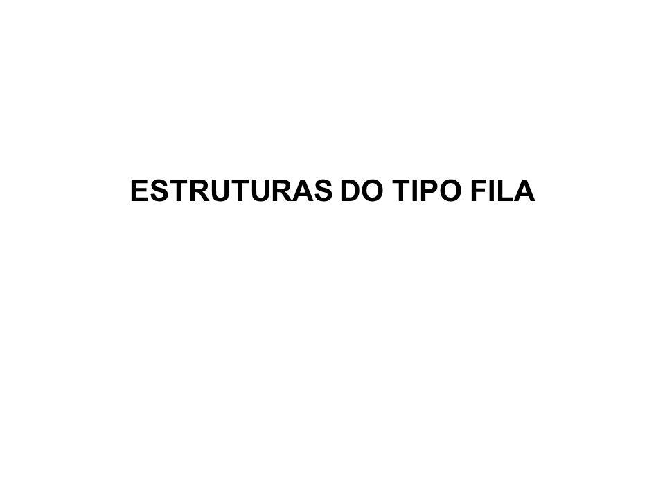 ESTRUTURAS DO TIPO FILA
