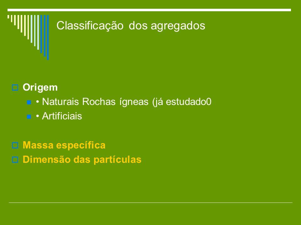 Classificação dos agregados