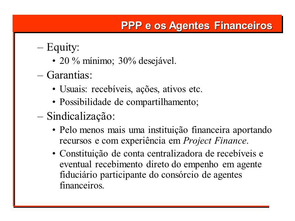 Equity: Garantias: Sindicalização: PPP e os Agentes Financeiros