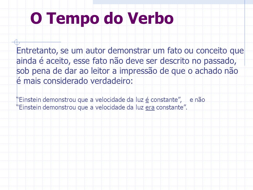 O Tempo do Verbo