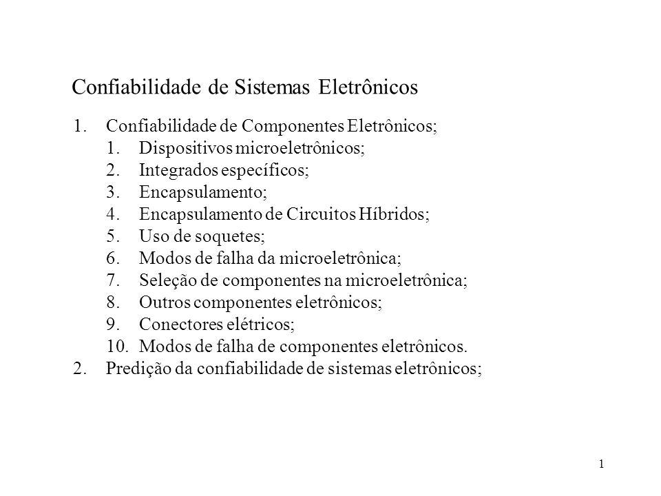 Confiabilidade de Sistemas Eletrônicos