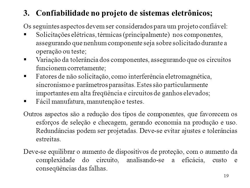Confiabilidade no projeto de sistemas eletrônicos;
